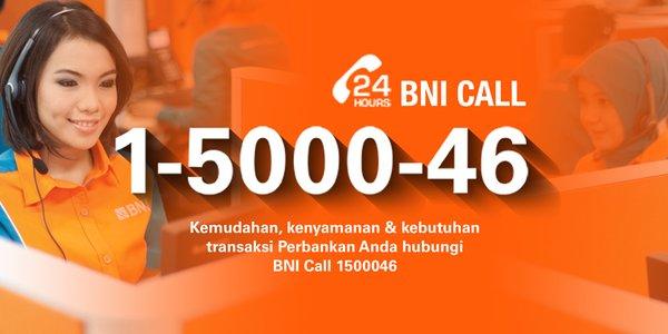Call Center Bank BNI 24 Jam