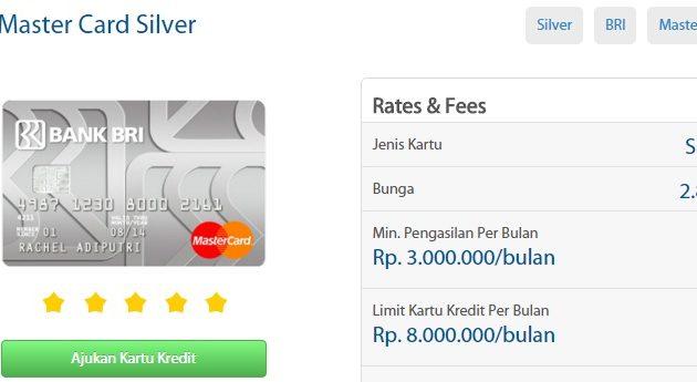 Buat Kartu Kredit Bri Mastercard Standard Silver