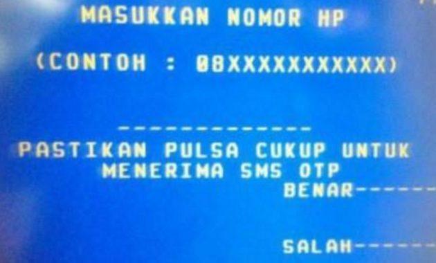 SMS Banking Bank Mandiri