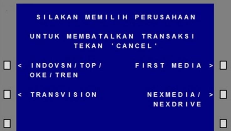 Bayar TV Berlangganan dengan ATM BCA
