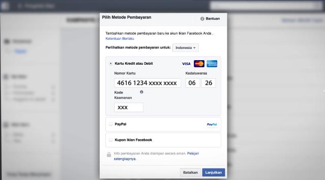 Bayar Iklan FB dengan Kartu ATM Mandiri