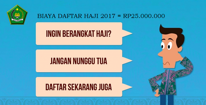 Biaya Daftar Haji 2017