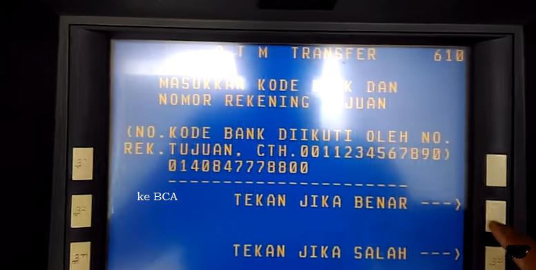 Transfer Antar Bank dari BNI