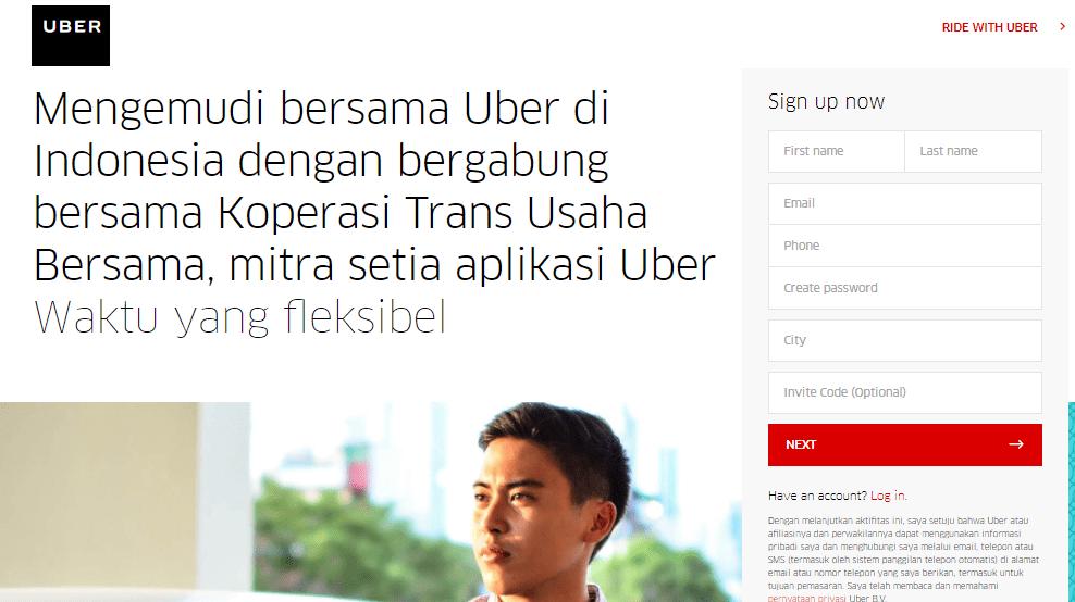 Daftar jadi Driver Uber Online