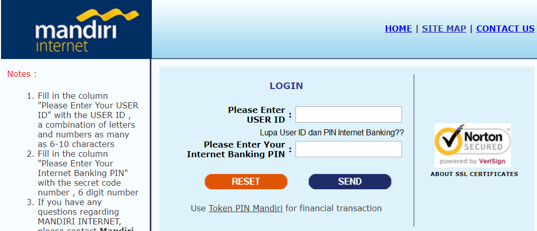 Lupa User ID dan PIN Internet Banking Mandiri
