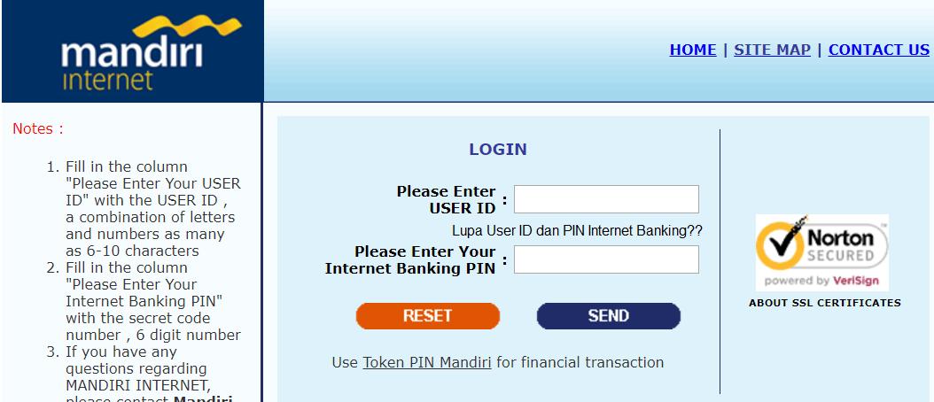 Cara Mengatasi Lupa User Id Dan Pin Internet Banking Mandiri
