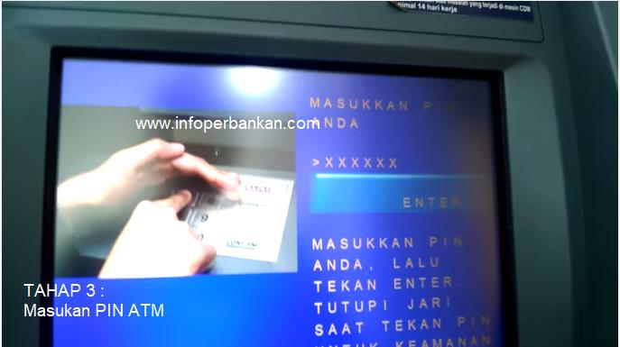 Masukan PIN ATM Mandiri