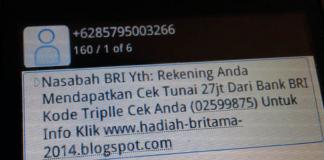 Modus Penipuan Atas Nama BRI