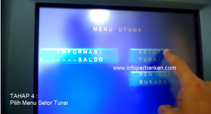 Pilih Menu Setor Tunai di ATM Mandiri