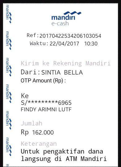 e-cash palsu