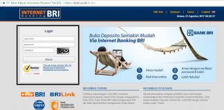 halaman login ib.bri.co.id