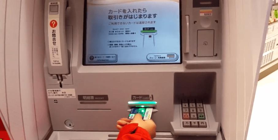 Pakai ATM Mandiri di Jepang