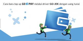 Top Up GO-PAY via Driver dengan Uang Tunai