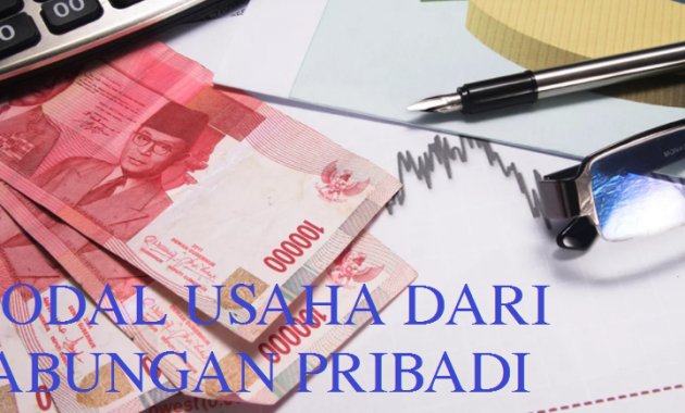 Modal Usaha dari Tabungan Pribadi