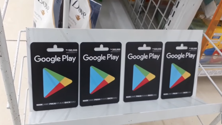 Voucher Google Play di Indomaret