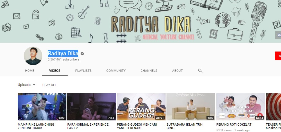 Channel Raditya Dika