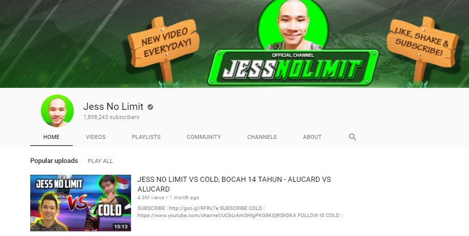 Jess No Limit Channel