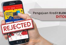 Kredit Elektronik ditolak