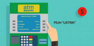 Beli Token Listrik di ATM Bukopin