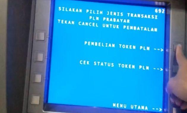 Pembelian Token PLN di ATM BNI