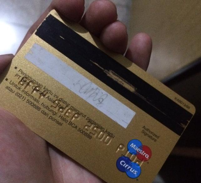 Pita Hitam pada Kartu ATM Rusak | INFOPERBANKAN.COM