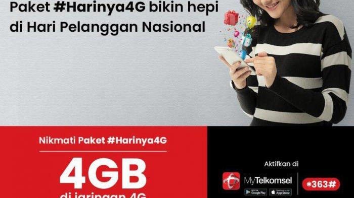 Kuota Internet Telkomsel 4GB perhari hanya Rp10