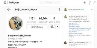 ciri ciri akun instagram penipu