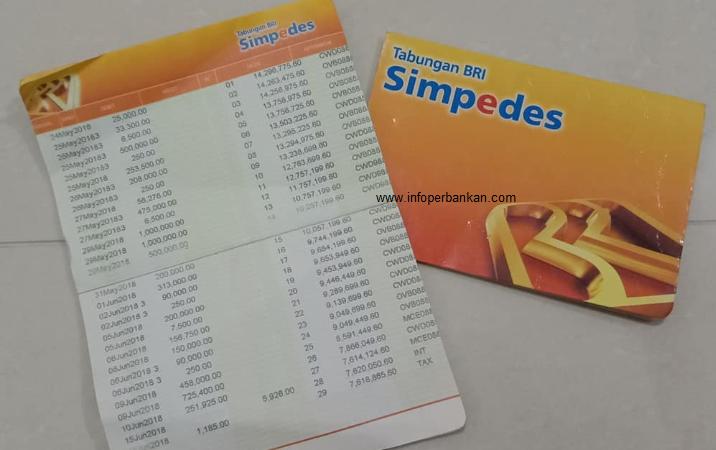 contoh print buku tabungan bri simpedes