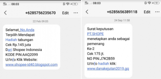 sms penipuan shopee
