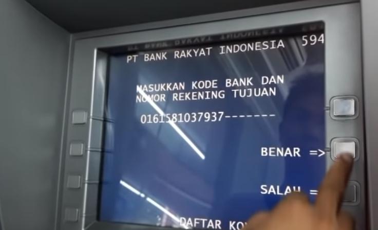 cara transfer uang ke bank lain lewat atm