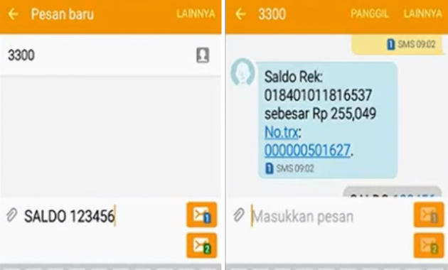cara cek saldo bri lewat sms banking