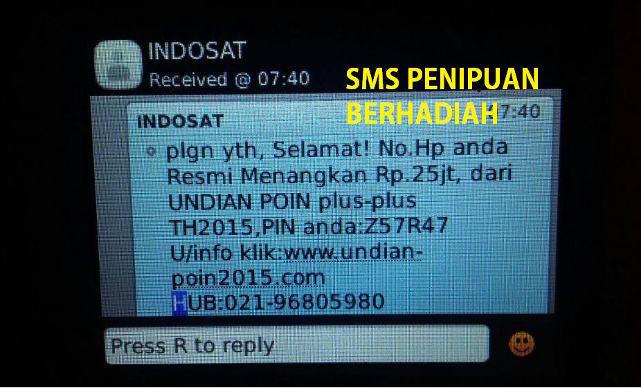 sms penipuan berhadiah