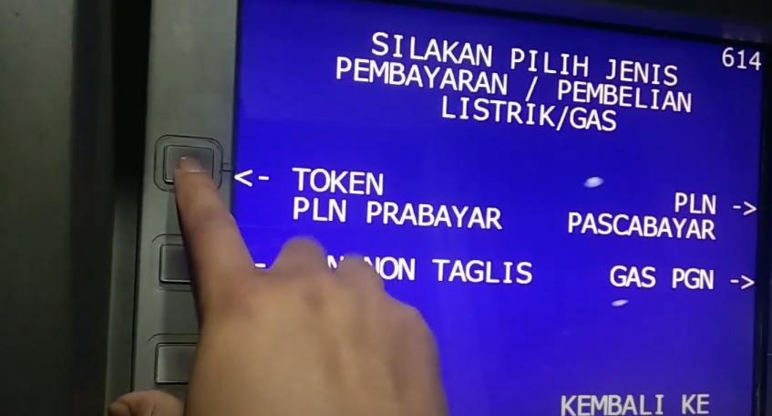 cara beli token listrik lewat ATM BRI