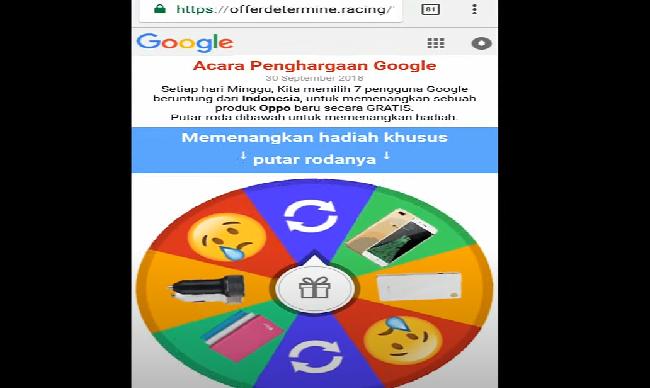 google spin berhadiah