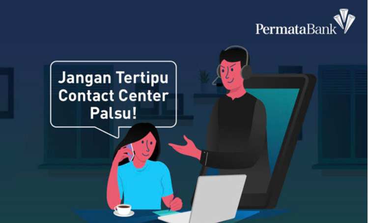 call center bank permata palsu