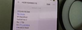 penipuan sms berhadiah lazada